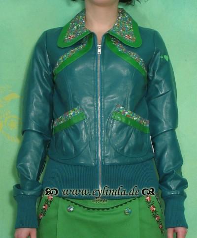 Jacke, Streifenhorn jacket, blautopf