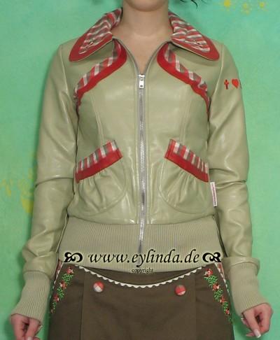 Jacke, Streifenhorn jacket, kiesel