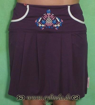 Kleid, Kleiner Schwung, deep purple