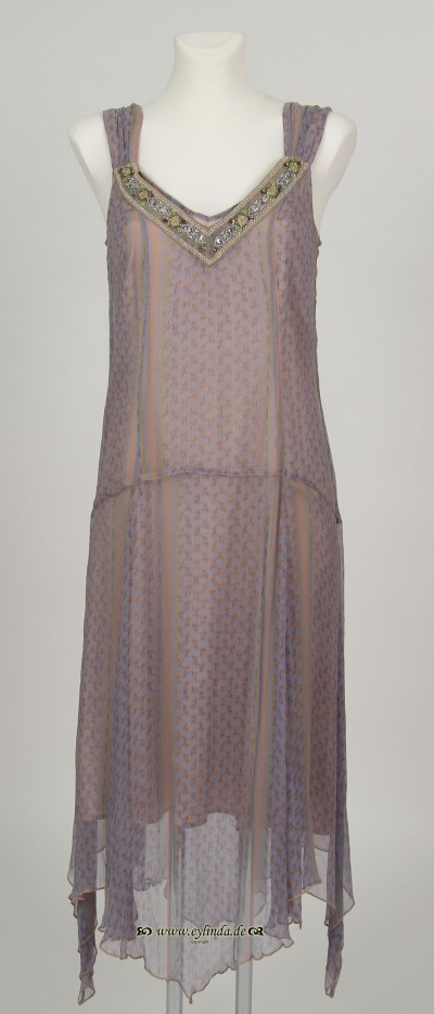 Kleid, Primrose Chiffon Indian Print, lint