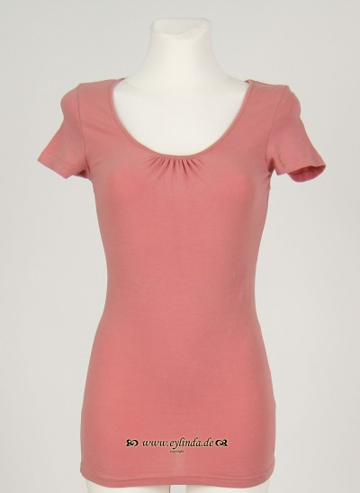 T-Shirt, Basic Jersey Stretch Light, blush