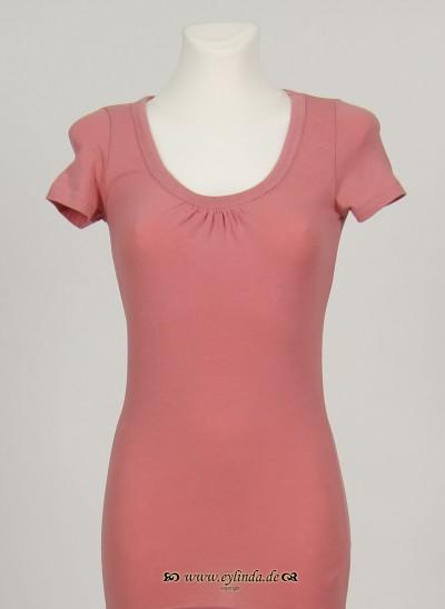 T-Shirt, Basic Jersey Stretch Light , rose