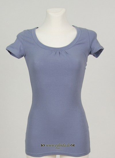 T-Shirt, Basic Jersey Stretch Light , tempest