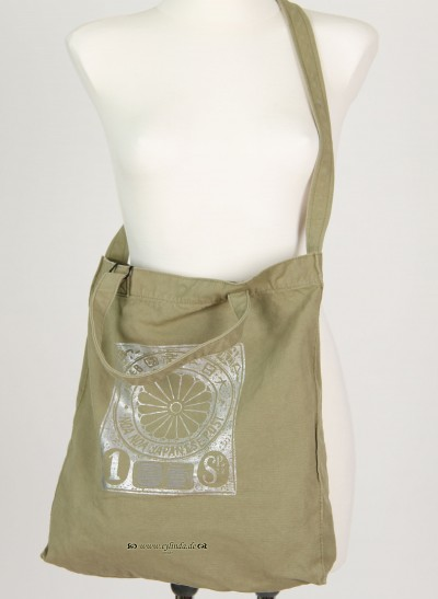 Tasche, Basic Canvas Bag Solid, cedar