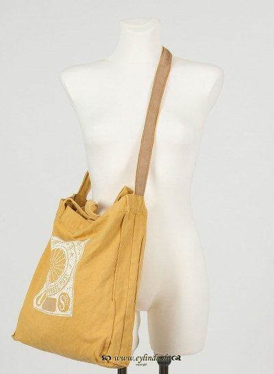 Tasche, Basic Canvas Bag Solid , mineral