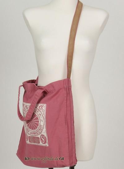 Tasche, Basic Canvas Bag Solid, rose