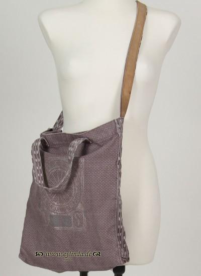 Tasche, Basic Canvas Bag Printed, elderberry