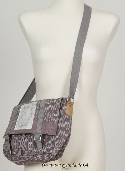 Tasche, Basic Canvas Bag Printed, elderberry