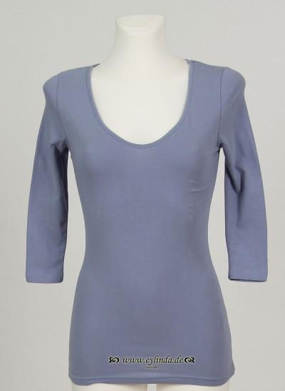 Shirt, Basic Jersey Stretch Light, tempest