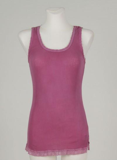 Top, L'ess Cotton Rib, light-burgundy