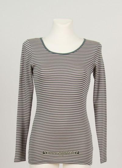 Shirt, Basic Single Rib Striped, goblin