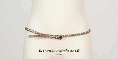 Gürtel, Basic Braided Belt, silver