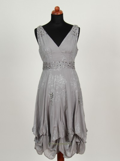 Kleid, Queen Cotton Viscose, grey