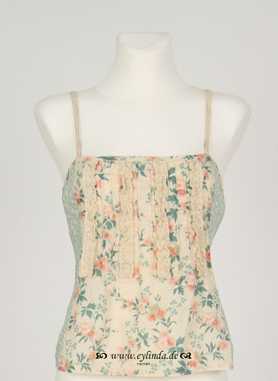 Top, Basic Voile Printed, coral