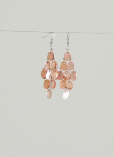 Ohrringe, Jocelyn Jewellery, light-blush