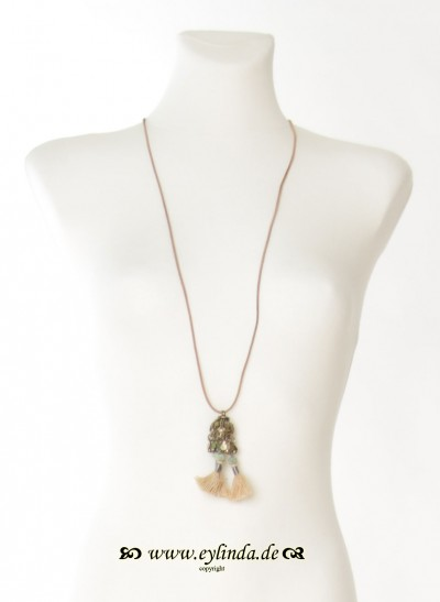 Kette, Edna Jewellery, dark-seashell
