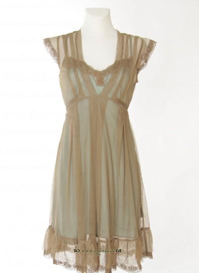 Kleid, Brignoles Net, coriander