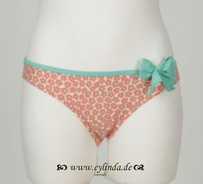 Bikini-Höschen, Adeli swimwaer printed, coral