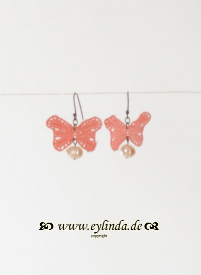 Ohrringe, Papillon Jewellery, coral