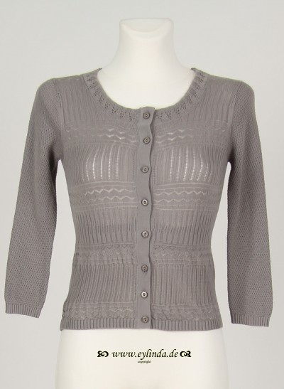 Cardigan, Basic Organic Knit, cloudburst