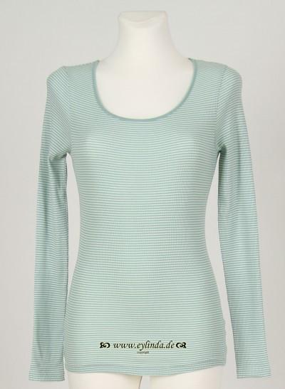 Shirt, Basic 2x2 Rib Striped, surf