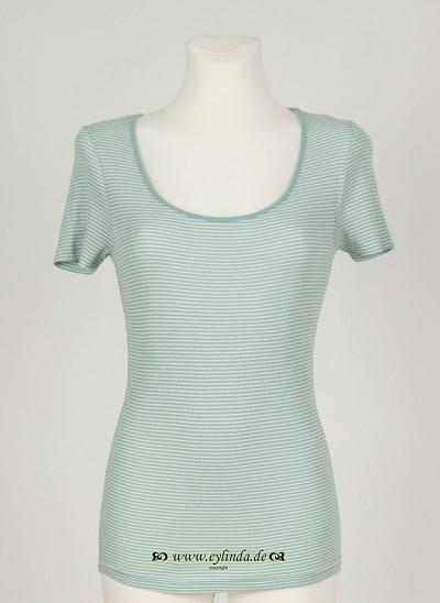 T-Shirt, Basic 2x2 Rib Striped , surf