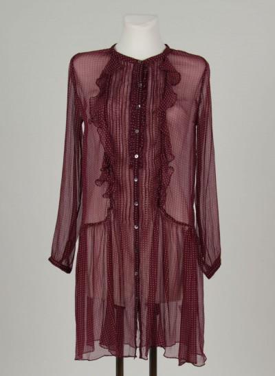 Kleid, L'ess Chiffon Printed, burgundy
