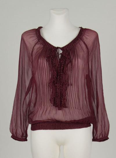 Bluse, L'ess Chiffon Printed, burgundy