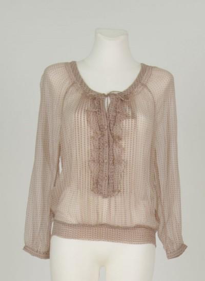 Shirt, L'ess Chiffon Printed, mushroom