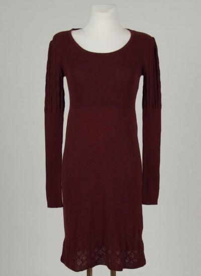 Kleid, L'ess Cotton Melange, burgundy