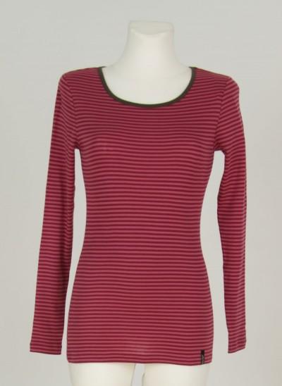 Shirt, L'ess Single Rib Striped, dark-wine