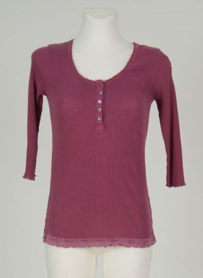 Shirt, L'ess Cotton Rib, dark-wine