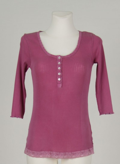 Shirt, L'ess Cotton Rib, light-burgundy