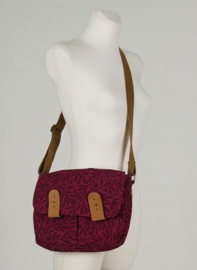 Tasche, L'ess Canvas Bag Printed, burgundy
