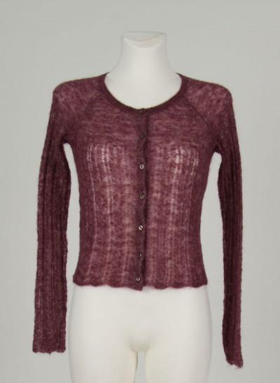 Cardigan, Silhouette Knit , burgundy