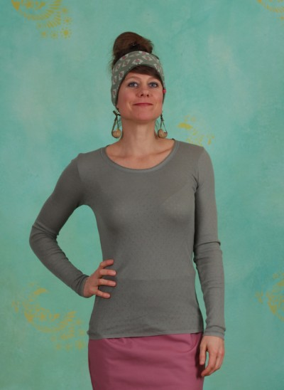 Shirt, Basic New Pointelle Jersey, agave-green