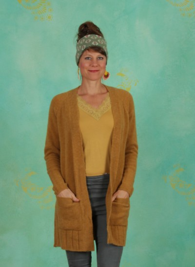 Cardigan, Basic Alpaca Knit, mustard-gold