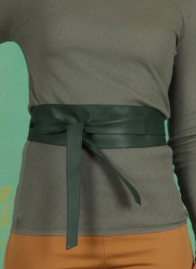 Gürtel, Tie Leather Waist Belt, duck-green