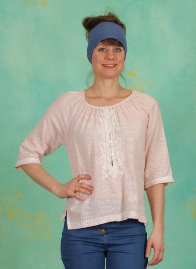 Bluse, Basic Cotton Slub, art-red