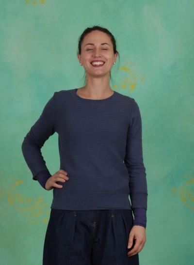 Pullover, Basic Organic Cotton, vintage-indigo