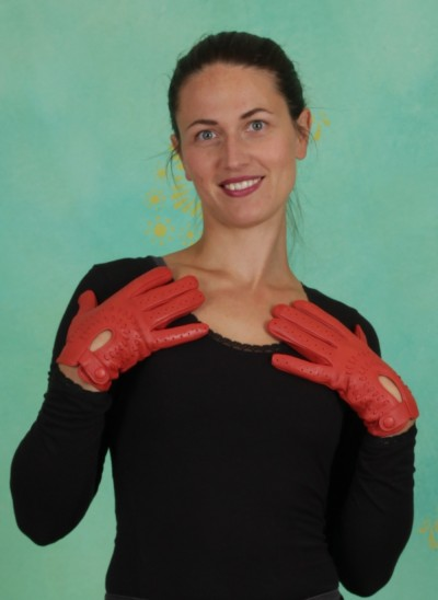 Handschuhe, Tunnel Leather Gloves, rooibos-tea