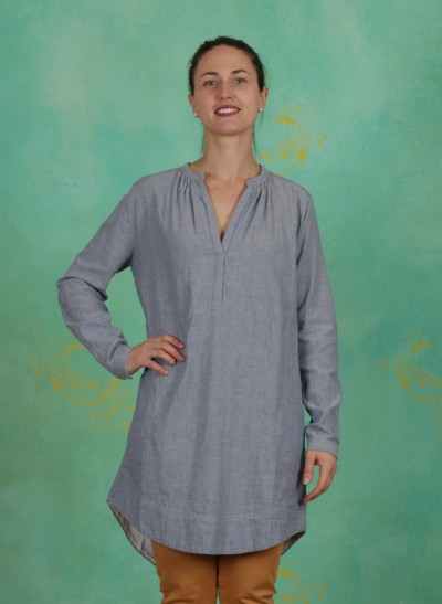 Tunika, Basic Bonded Cotton, art-blue