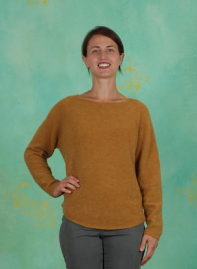 Pullover, Basic Alpaca Knit, mustard-gold