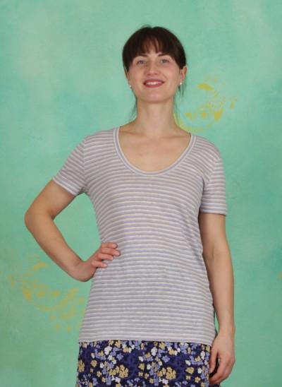 Shirt, Basic Linen Jersey, art-blue