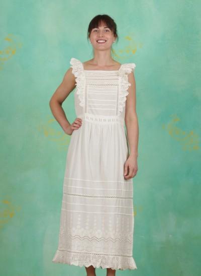 Kleid, Broderie Anglaise Cotton, birch