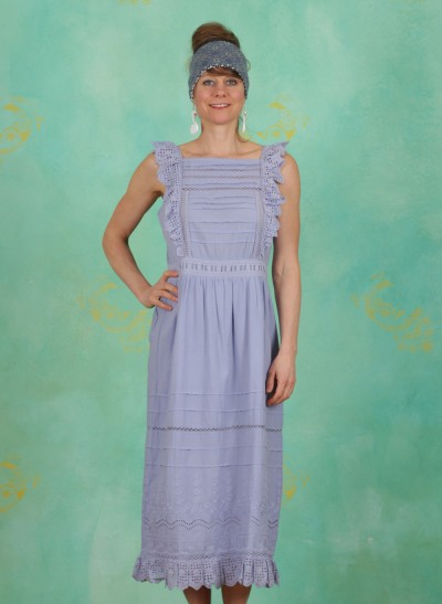 Kleid, Broderie Anglaise Cotton, thistle-down