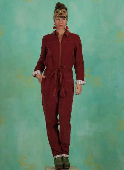 Jumpsuit, Organic Baby Cord, apple-butter