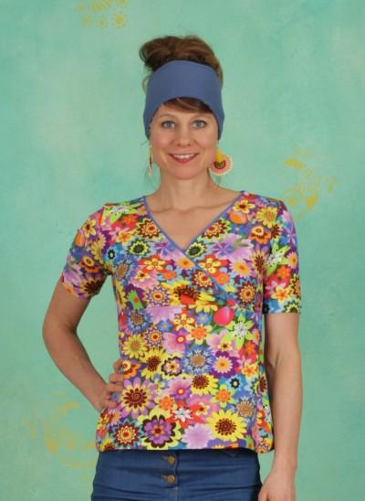 Shirt, V-Neck, earth-laughs-in-flowers