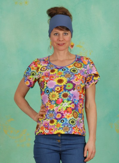 Shirt, U-Neck, earth-laughs-in-flowers