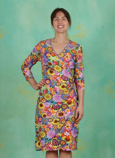 Kleid, V-Neck, earth-laughs-in-flowers